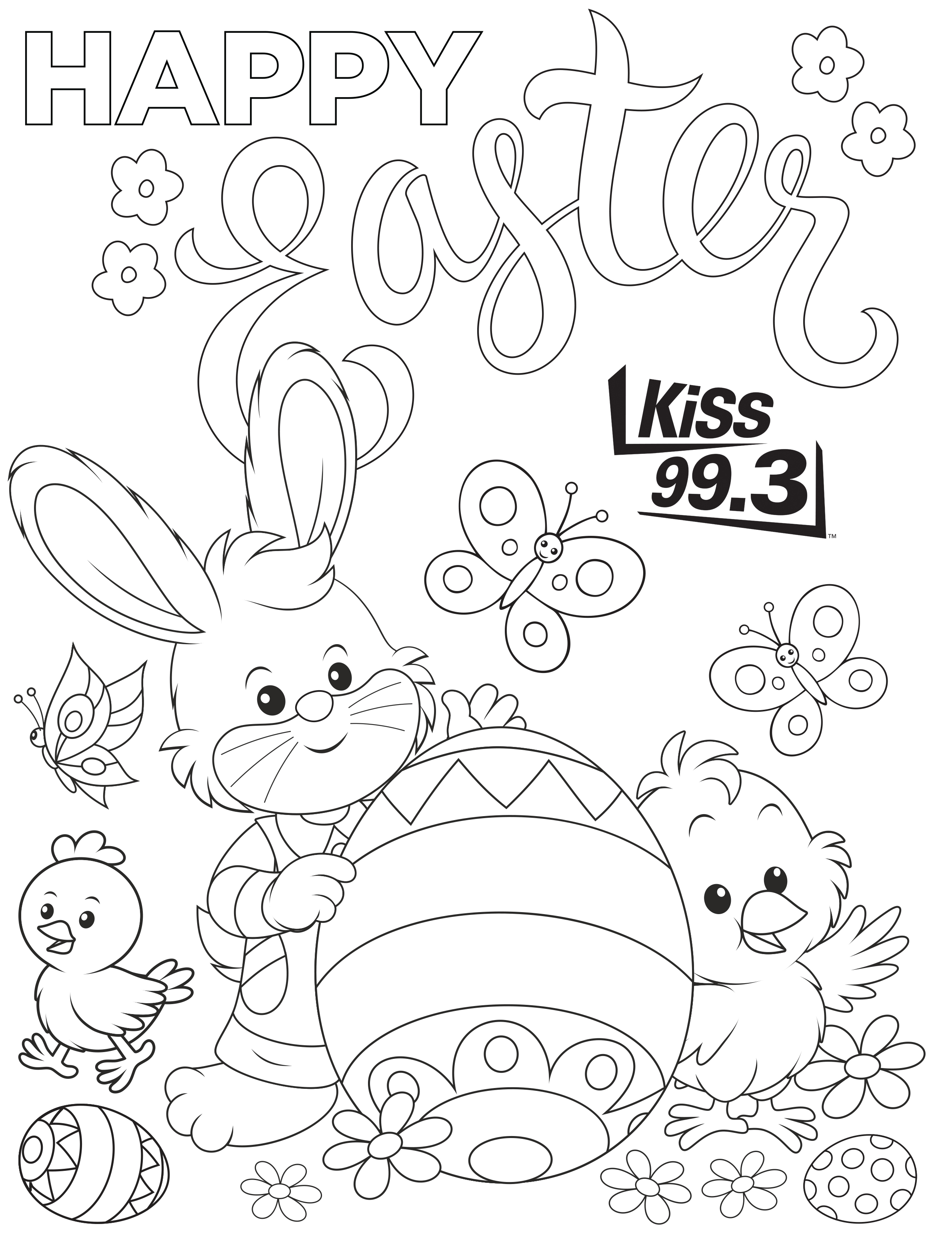 Print and Colour our Easter Colouring Page - KiSS 99.3 Timmins