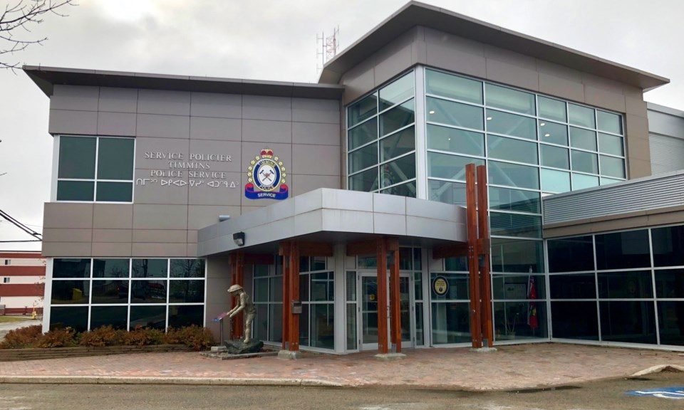 The Timmins Police Service building downtown Timmins. Maija Hoggett/TimminsToday
